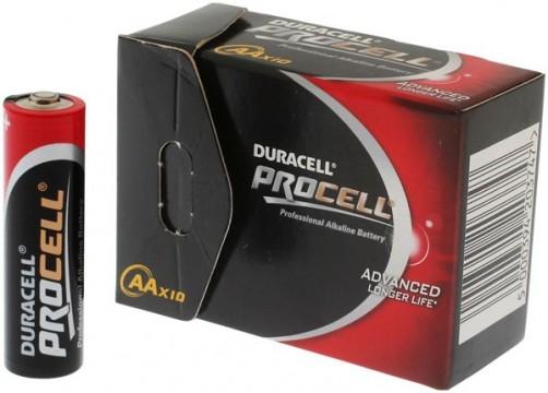 Piles Duracell LR6 Procell - lot de 10