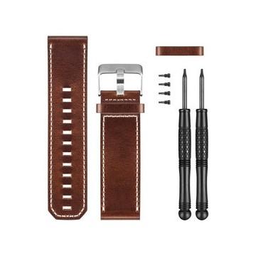 Bracelet de cuir pour montre Garmin D2 Bravo