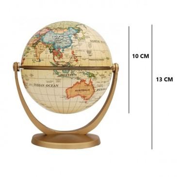 Globe terrestre antique - 10 cm