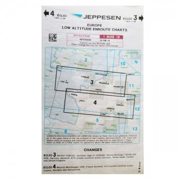 Carte IFR Jeppesen Low Altitude Enroute Charts - Europe 3/4