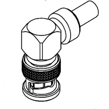 Connecteur BNC, Mâle, Angle droit, A sertir RG-58