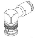 Connecteur BNC, Mâle, Angle droit, A souder RG-58 RG-142 RG-400