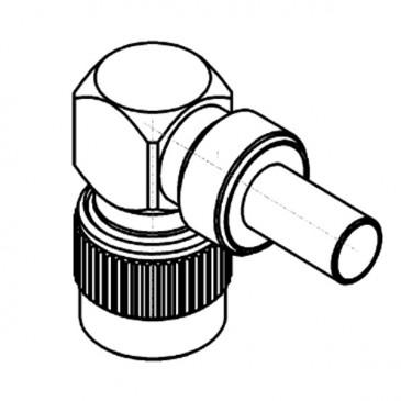 Connecteur TNC, mâle, angle droit, à sertir RG-142, RG-400