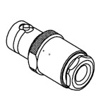 Connecteur BNC, femelle, droit, à souder RG-58, RG-142, RG-400