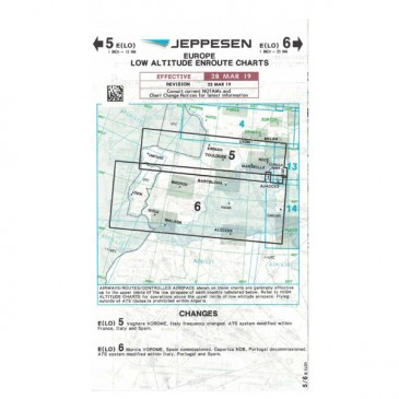 Carte IFR Jeppesen Low Altitude Enroute Charts - Europe 5/6