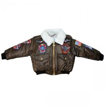 Blouson aviateur tissu imitation cuir - Enfant