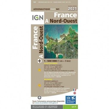 Carte IGN OACI 2021 Nord-Ouest