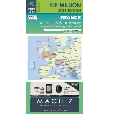 Carte VFR Air Million France Weekend and Bank Holiday 2021