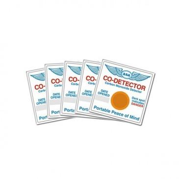 Lot de 5 détecteurs de monoxyde de carbone ASA