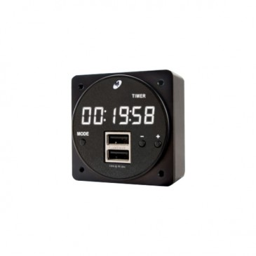 Horloge - Chargeur USB Mid-Continent 6420093-2