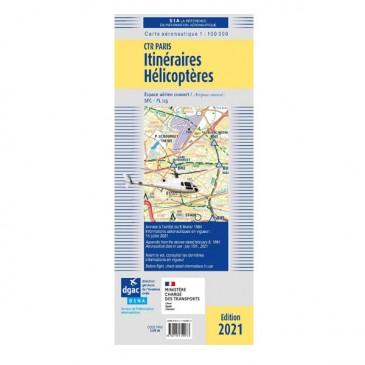 Carte Itinéraires Hélicoptères Région parisienne 2021