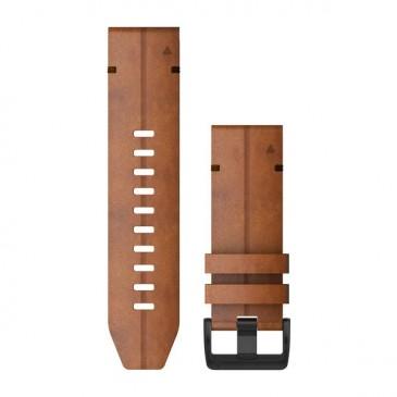 Bracelet de cuir noir pour montre Garmin D2 Bravo