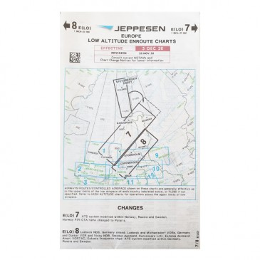 Carte IFR Jeppesen Low Altitude Enroute Charts - Europe 7/8