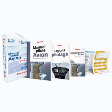 La mallette Duo PPL - Manuel du pilote d'avion + Leçons de pilotage
