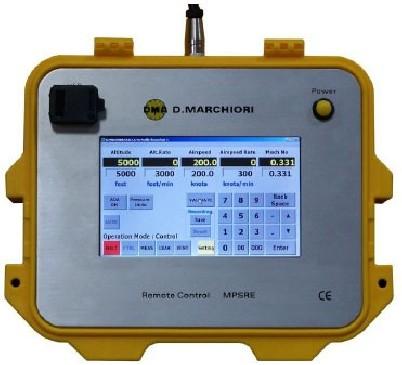 Télécommande Tactile pour ADTS, pilotage des bancs pitot statique D.Marchiori