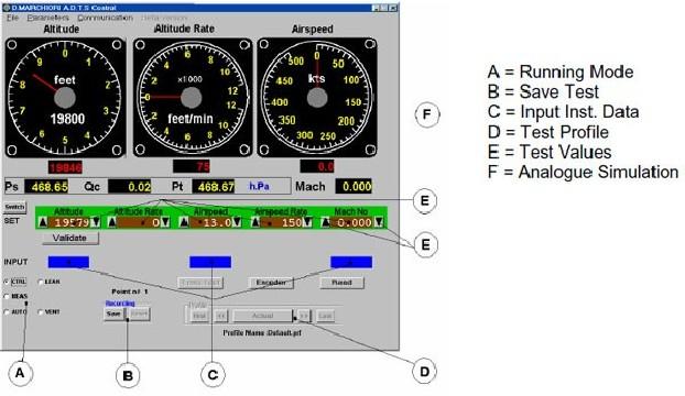 Logiciel de pilotage pour banc adts pitot statique DMA