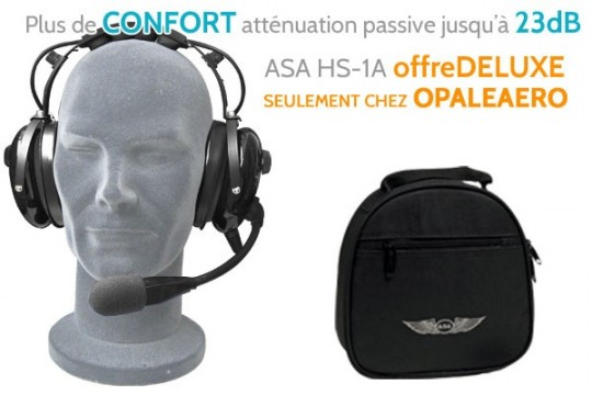 Casque aviation ASA HS-1A Offre Deluxe