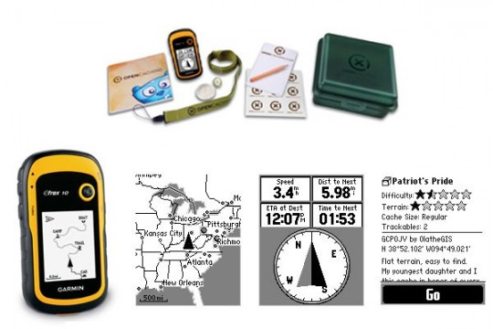Kit Geocaching Garmin GPS eTrex 10